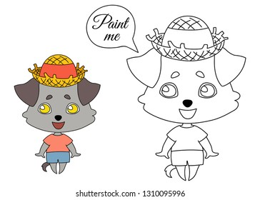 78e536d65ad Dog with hanging ears in summer clothes