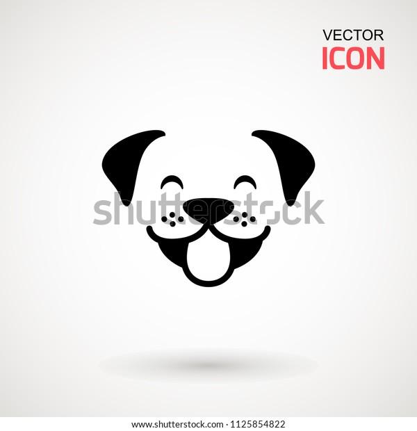 Image Vectorielle De Stock De Icône Tête De Chien Style