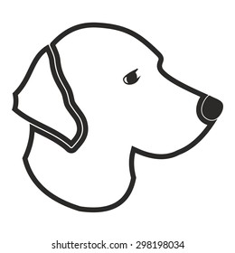 Dog head vector
