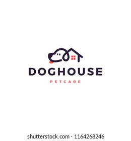 dog house home logo vector icon