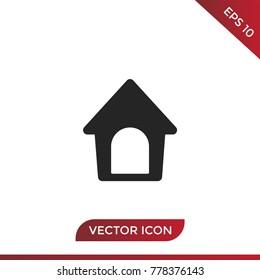 Dog house icon vector