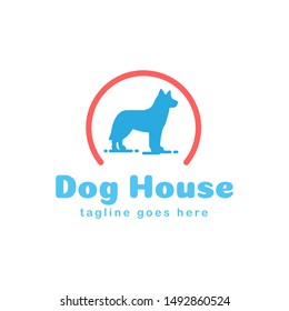 dog house logo design, icon design template elemnets