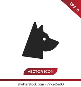 Dog icon. Animal symbol. Pet pictogram, flat vector sign isolated on white background. Simple vector illustration for graphic and web design.