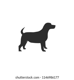 Dog icon. Domestic animal symbol. Linear style sign for mobile concept and web design. dog symbol logo illustration. vector graphics - Vector.