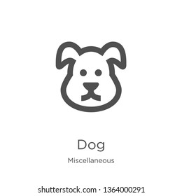 dog icon. Element of miscellaneous collection for mobile concept and web apps icon. Outline, thin line dog icon for website design and mobile, app development