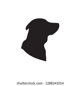 Dog Icon In Flat Style Vector Icon For Apps, UI, Websites. Animal Black Icon Vector Illustration.