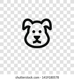 dog icon from miscellaneous collection for mobile concept and web apps icon. Transparent outline, thin line dog icon for website design and mobile, app development