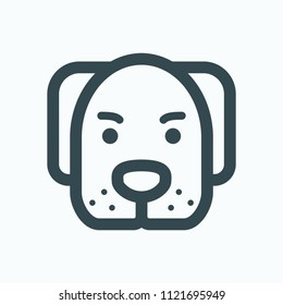 Dog icon, dog pet shop vector icons