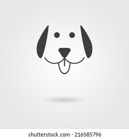 dog icon with shadow. concept of man's best friend. modern design vector illustration