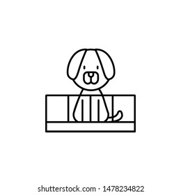 dog icon. Simple thin line, outline vector of Petshop icons for UI and UX, website or mobile application