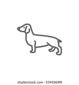 Dog Icon Vector.