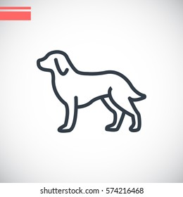 Dog Icon Vector.