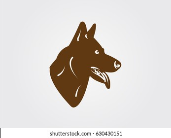 dog, icon, vector illustration eps10