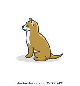 dog icon vector illustration for logo template