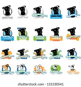 Dog Icons - Isolated On White Background - Vector Illustration, Graphic Design Editable For Your Design. Dog Logo