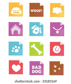 Dog icons â?? VECTOR. Dog iconset for dog shops, internet or magazines. Vector â?? easy to resize.