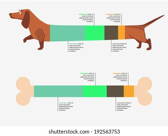 Dog infographic. Vector illustration