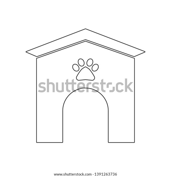 Dog Kennel Icon Element Dog Mobile Stock Vector (Royalty
