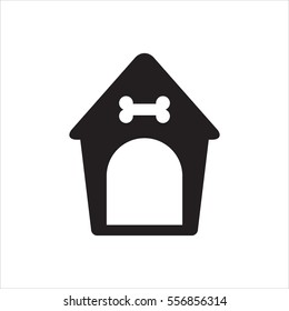 Dog kennel icon, vector