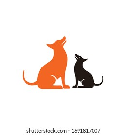 Dog line icon set. Vector illustration.