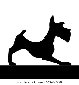 Dog little silhouette vector fox terrier