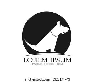 Dog logo abstract design template. - Vector