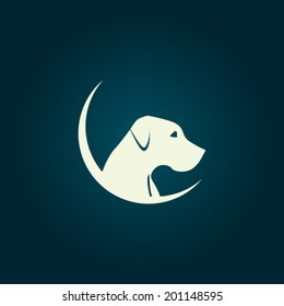 Dog logo concept - vector template