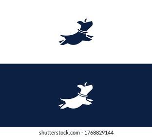 dog logo design vector format