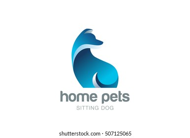 Dog Logo design vector template. Home pets care veterinary clinic Logotype concept icon