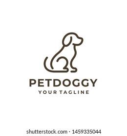 Dog logo and icon design vector.