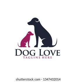 dog logo icon pet shop