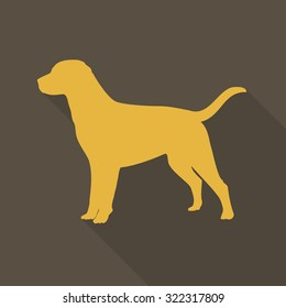 dog logo icon with shadow