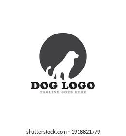 Dog logo icon vector template.