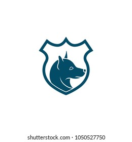 Dog logo vector icon. K9 police dog logo icon vector. K9 academy logo design.