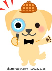 f051dde7cf5ee A dog looking into the magnifying glass
