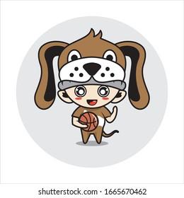 Dog mascot cute characters activity illustration