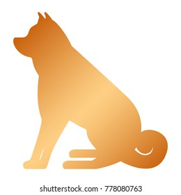 dog mascot silhouette icon