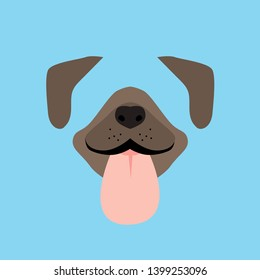 dog mouth and ears for game accessories. dog face video chat or selfie photo filter template vector isolated icon