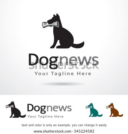 Dog news logo template design vector stock vector royalty free dog news logo template design vector maxwellsz