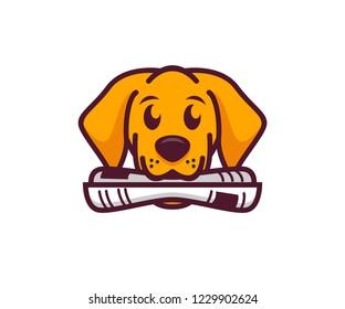 dog newspaper logo vector designs