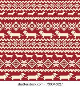 Dog Nordic pattern illustration