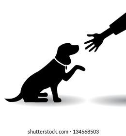 Dog Shaking Paw Stock Vectors Images Vector Art Shutterstock