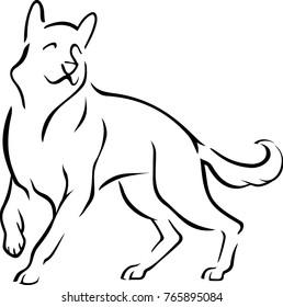 Dog Ouline Sketch