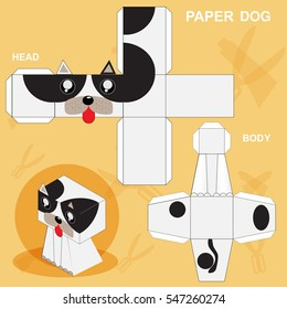 Dog Paper Craft Template Stock Vector (Royalty Free) 547260247 ...
