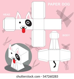 Dog paper craft template