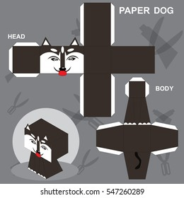 Dog Paper Craft Template Stock Vector (Royalty Free) 547260286 ...