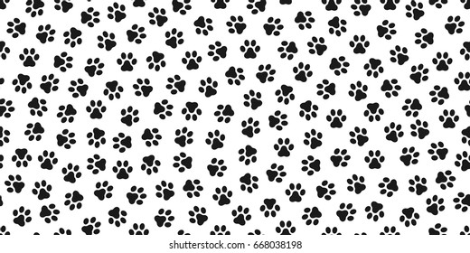 Dog Paw Cat Paw kitten vector Seamless Pattern wallpaper
