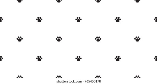 Dog Paw Cat Paw puppy kitten doodle icon vector Seamless wallpaper background