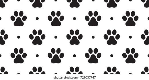 Dog Paw Cat Paw vector Seamless Pattern wallpaper polka dot background