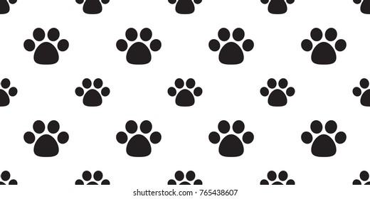 dog paw foot print cat paw puppy kitten cartoon doodle seamless pattern wallpaper background